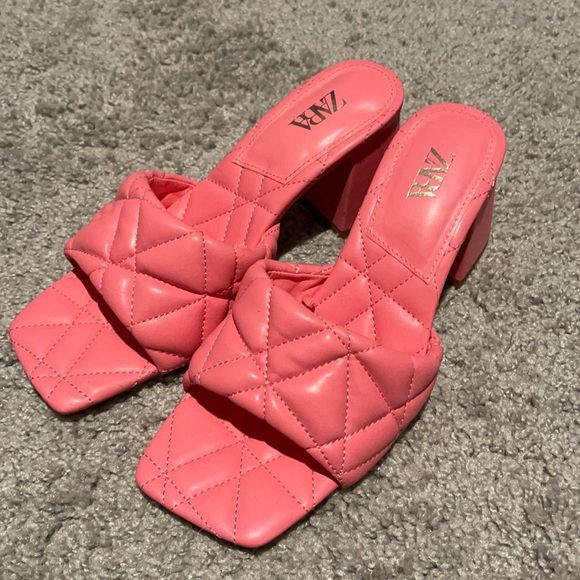 Zara pink square toe shoes size 37